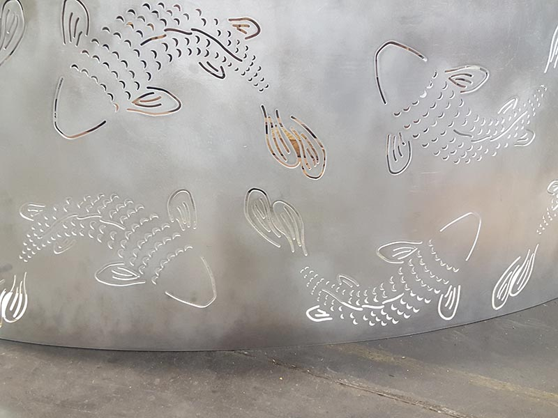 Koi Laser Cut and Rolled Facade
